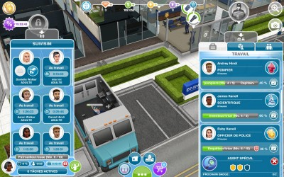 Les Sims FreePlay Menu Personnages