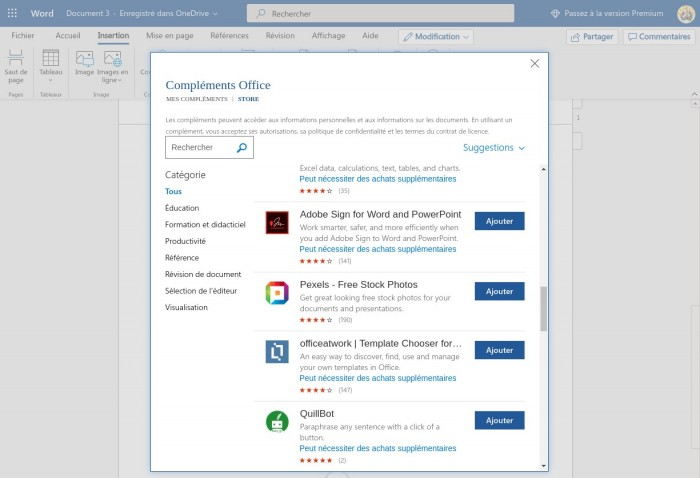 Microsoft Word Complément Office