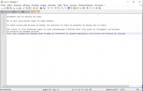 Notepad++ Interface