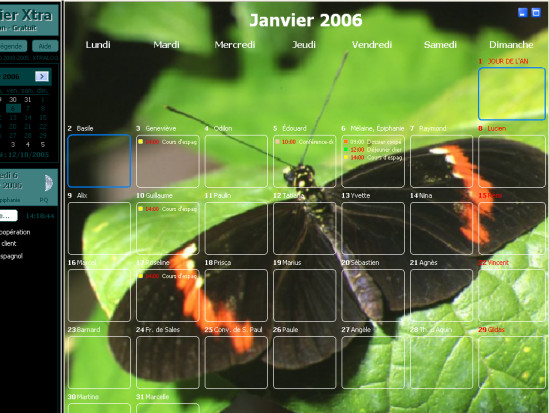 calendrier xtra 2009